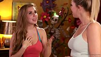 Lesbian adventure at massage salon - Zoey Monro...