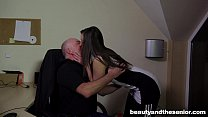 Teen Carla gets fucked and facialied in the office)