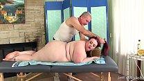 Big boobed B BW Miss Ladycakes gets a sex massage