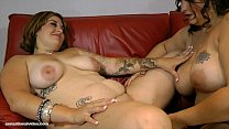 Hot Slutty  BBW Lesbians Lick Bellys, Boobs and...