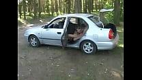 Russian teen anal in a car