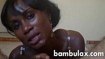 african ebony teen sucking and get full of cum