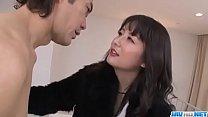 Office bimbo, Ayumi Iwasa, removes her undies f...