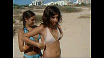 Two sexy busty girls on beach TWF-www.teenworld...