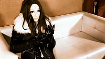fetish leather girl breath play