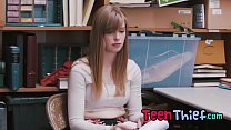 Pale Teen Thief Dolly Leigh Gets Stripped And F...