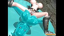 Shemale 3d hentai with four boobs hot poked a b...