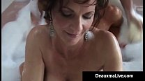 Busty Cougar Deauxma & Hot Horny Milfs in Bubbl...