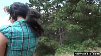 sexy teen anal fucking outdoor pov doggy style