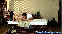 Busty massage milf fucked after oralsex