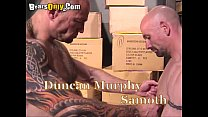 Muscular And Tattooed Older Men Fiery Threesome
