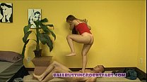 ballbusting and fucking with asia zo
