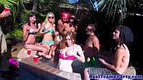 Real bikini party turning into orgy