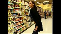 teen flashes ass and pussy at the grocery store