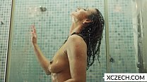 Sexual shower with hot milf