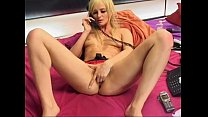 TV/ phonesex hot blonde showing pussy