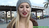 euro pick up sluts outdoor facial action
