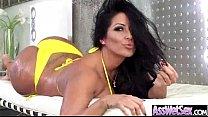 (kiara mia) Curvy Oiled Butt Girl Enjoy On Cam Anal Sex video-18