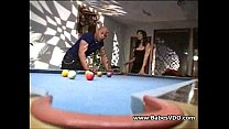Busty Blonde fucking on Billard table