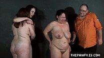 Three slavegirls whipping and extreme punishmen...