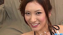Yui Kasuga fucked with toys and jizzed on face