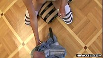 Crazy and sexy chick giving unbelievable pov bl...
