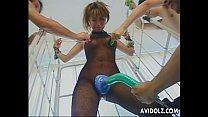 tai phim sex -xem phim sex Busty Japanese hottie is tied up and teased wit...