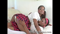 twin. french ebony sexy twins, lesbian identical Stunning