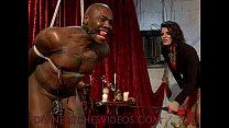 Black bound mucle guy fucked by mistress with h...
