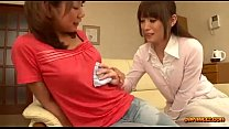 r sitting the in couch the on rubbed pussy sucked nipples her getting girl Asian