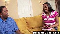 RealBlackExposed - Sweet black teen meets monster dick porn videos
