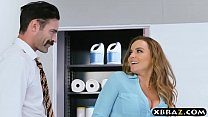 New big tits employee gets a good office initiation fuck porn videos