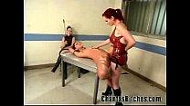 2 mistresses fuck a slave bitch