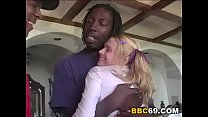 Pigtailed Teen Wants Gangbang With Big Black Cock