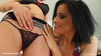 Cecilia Vega and Wendy shares a load of cum aft...