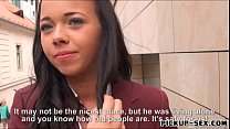 Cute student Tricia Teen banged and facialed fo...