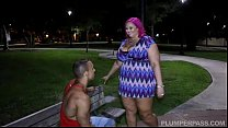 big titted bbw milf meets stranger in park and bangs