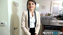 PropertySex - Ridiculously attractive real estate agent fucks her ex boyfriend porn videos