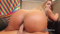 Shemale twerking on big cock