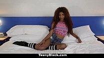 TeenyBlack - Petite Ebony Does Splits While Riding Dick porn videos