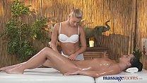 Massage Rooms Young beautiful lesbians explore ...
