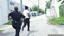 Female cops pull over black suspect and suck hi...