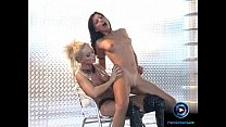 aneta keys and sylvia saint screwing each other with black dildo