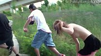 Sexy teen girl in PUBLIC swx threesome Part 6