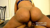 Ebony black woman rides dick reverse cowgirl th...