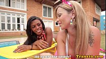 twosome in cocksucked tgirl latina Black