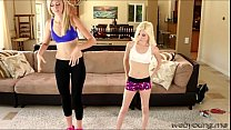 blonde teen pipper and her instructor goes pussy fingering