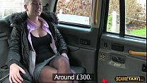 Blondie Licky jumps on a taxi and gets fucked h... thumb