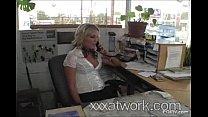 XXX at Work - Receptionist Kiara Diane Fucks Me...
