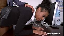 Sexy lovely secretary ebony Ivy Young fucked in...